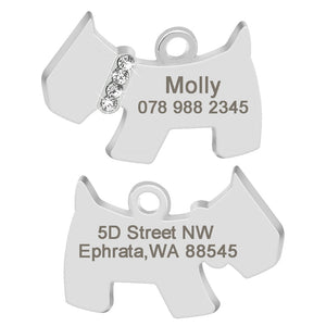 Dog Shaped ID Tag