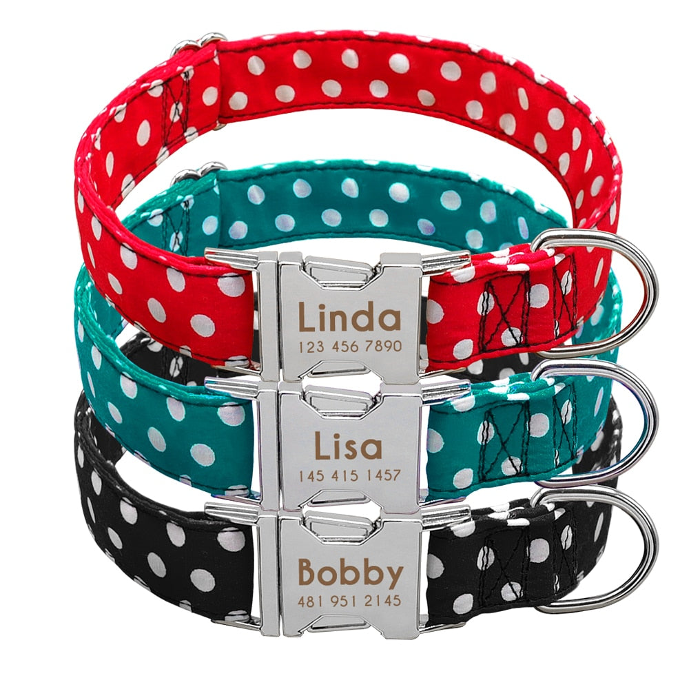 Personalized Polkadot Collar