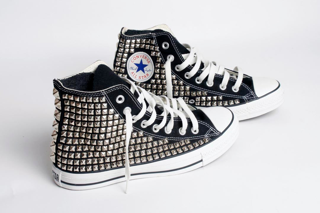 Studded High Top Converse Sneakers
