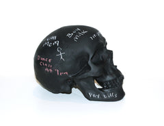 chalkboard skull side view