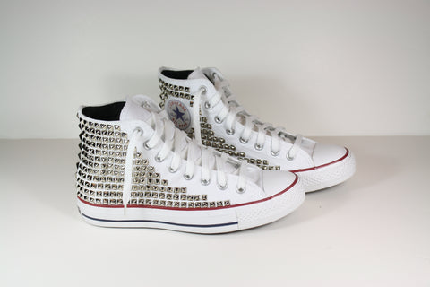 Created by fortune high top studded converse sneakers