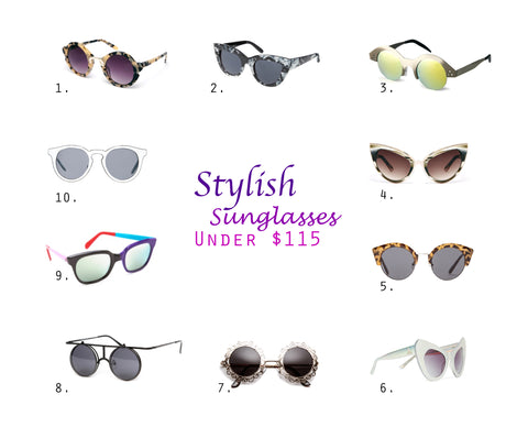 Stylish sunglasses under $115