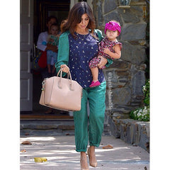Penelope Disick with mom, Kourtney Kardashian wearing the Created By Fortune Lita turban