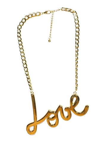 Over sized love necklace
