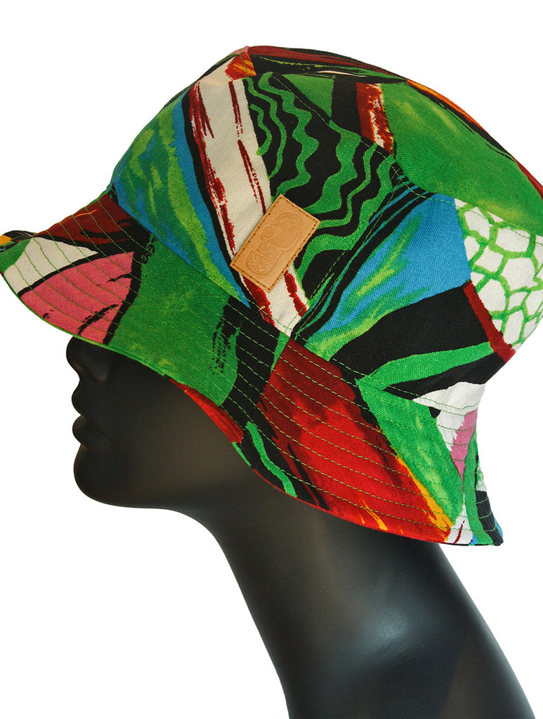 Abstract Printed Bucket Hat