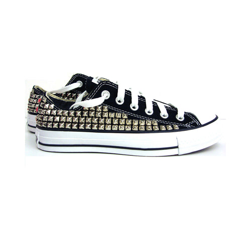Custom Women's Low Top Studded Converse