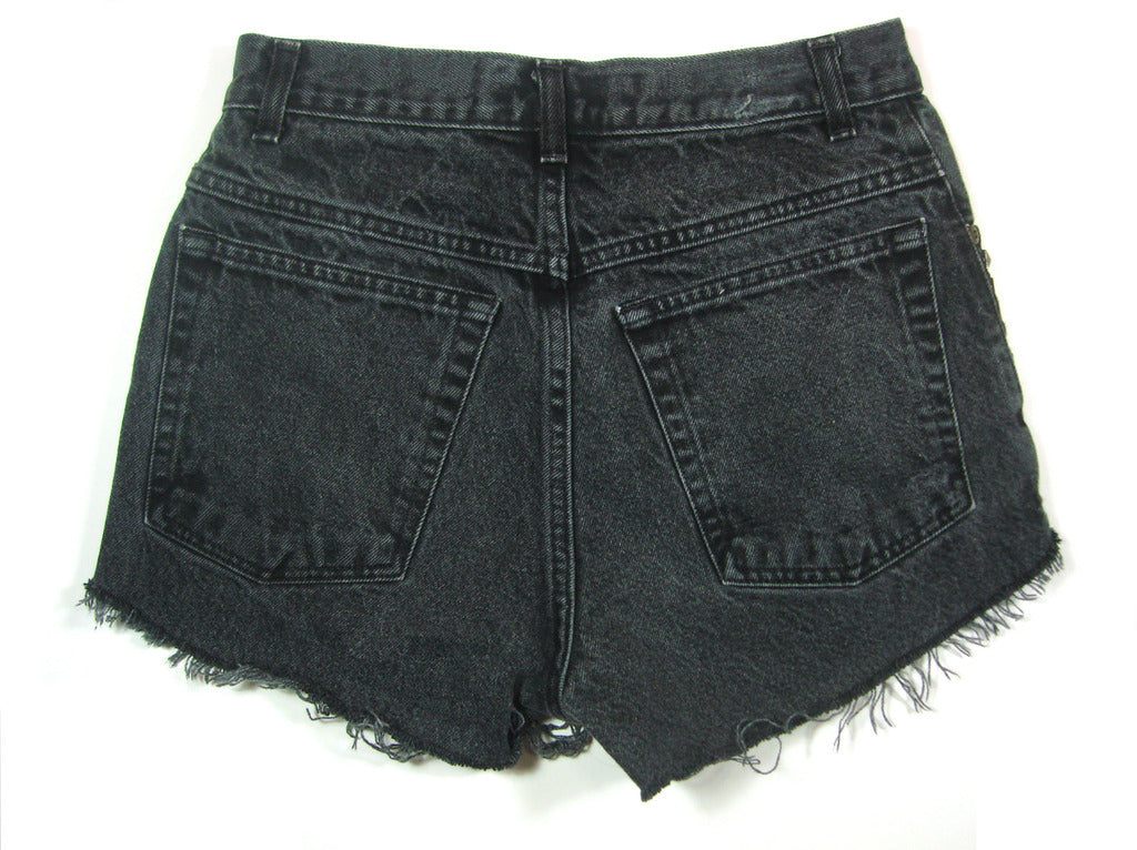 Grey studded high waisted shorts