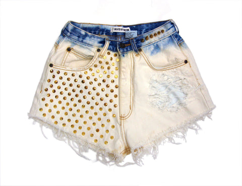 Dip dyed Studded Vintage Shorts