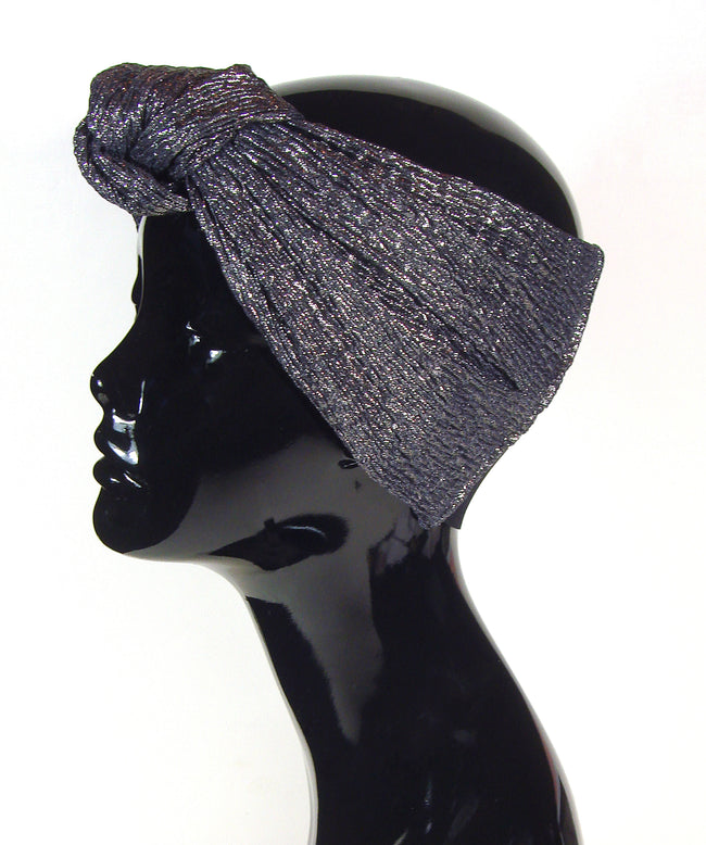 metallic knot turban