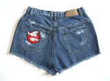 Genuine Asshole Patch High Waisted Vintage Shorts Back