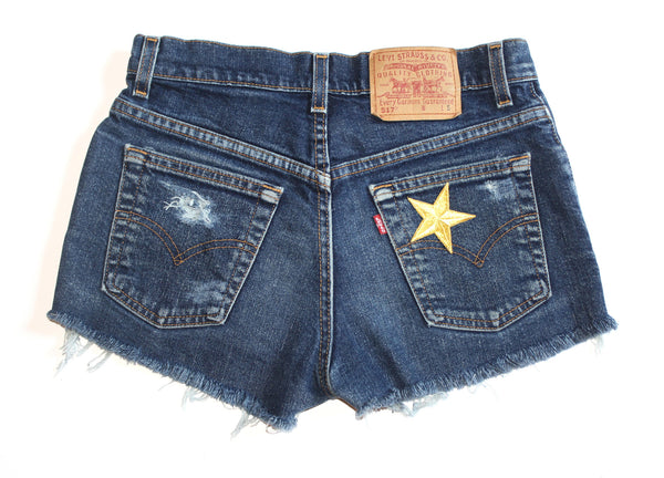 Give Me Head Til' I'm Dead Patch Vintage Shorts Back