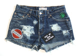 Give Me Head Til' I'm Dead Patch Vintage Shorts Front