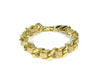 gold leather woven chain bracelet