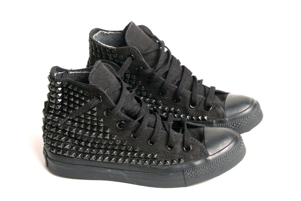 Women's custom studded converse sneakers