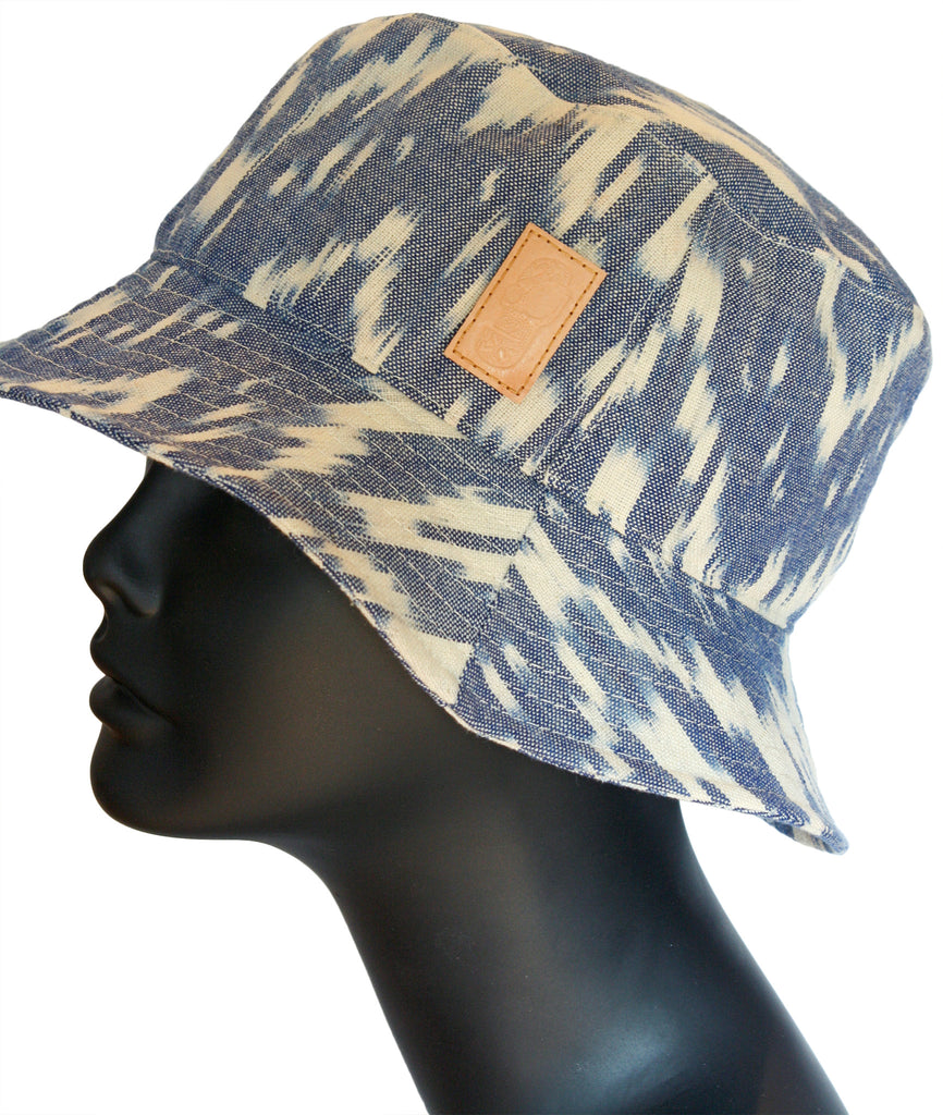 Ikat bucket hat side view