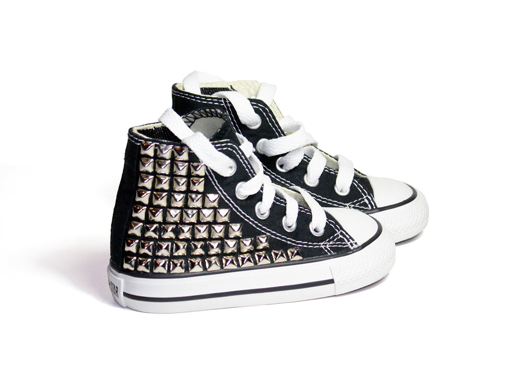 Kid's Custom Studded Converse sneakers