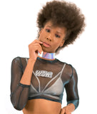 Leather Hologram Choker Necklace
