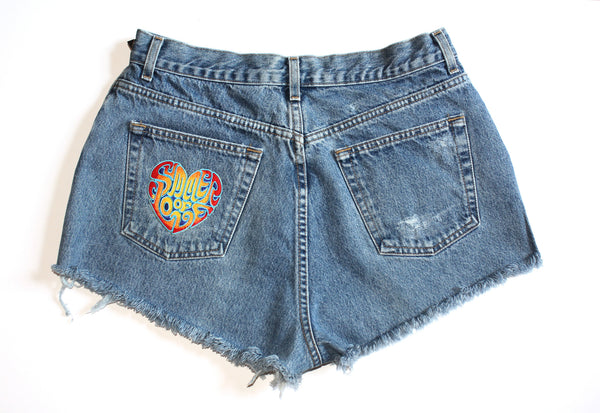 Marijuana Patch High Waisted Vintage Shorts Back