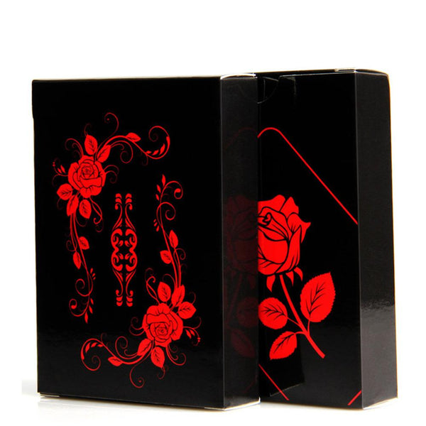 Frosted Black Rose Plastic Waterproof Magic Poker