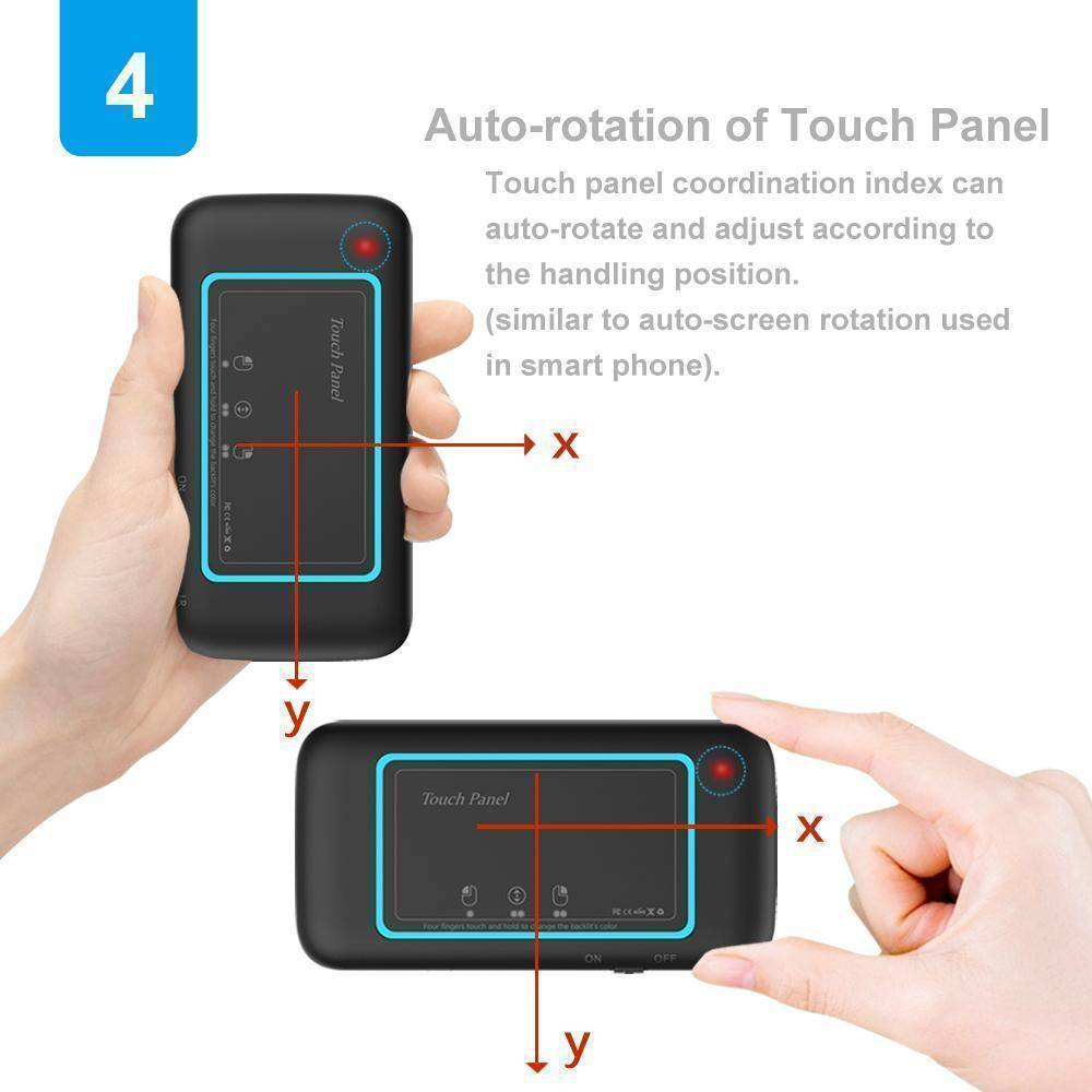Full Touchpad Mini Keyboard 2.4G, IR Remote on