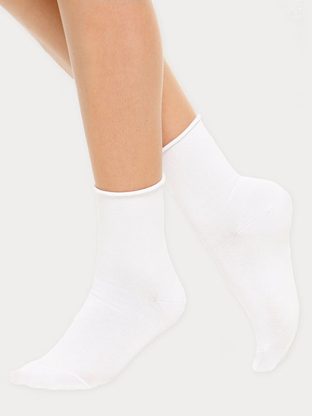 Cotton Comfort Ankle Socks, 2-pack