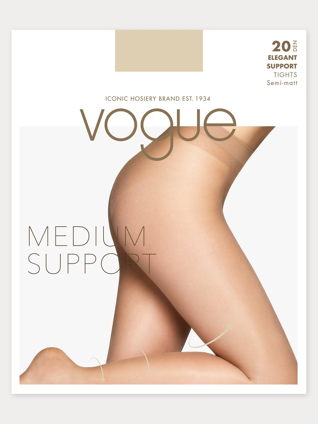 Vogue elegant medium support tights.