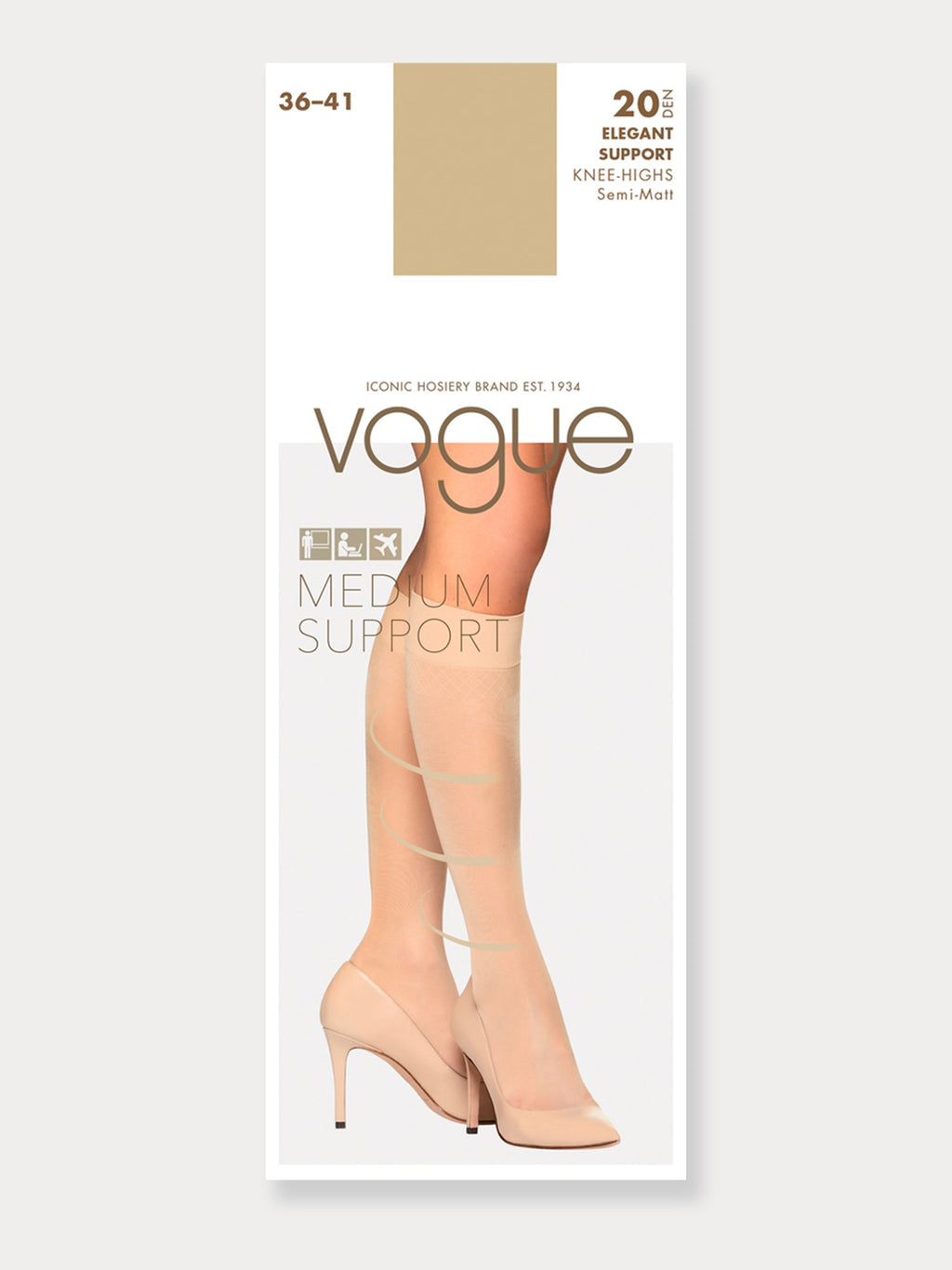 Vogue Elegant Support Knee 20 Denier Socks
