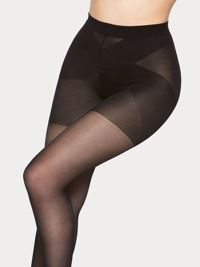 Vogue super comfort 20 denier semi-matte tights especially designed for plus size women.
