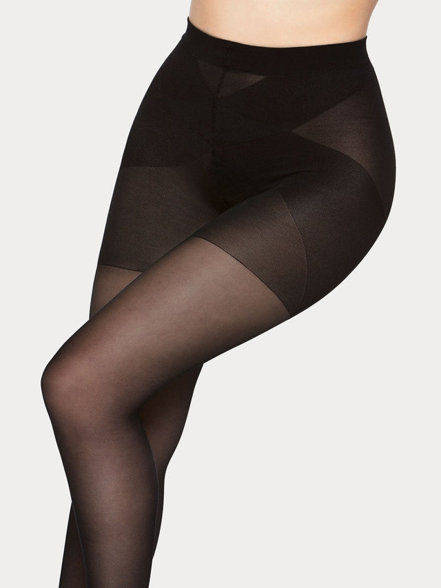 Vogue super comfort 40 denier semi-matte tights especially designed for plus size women.