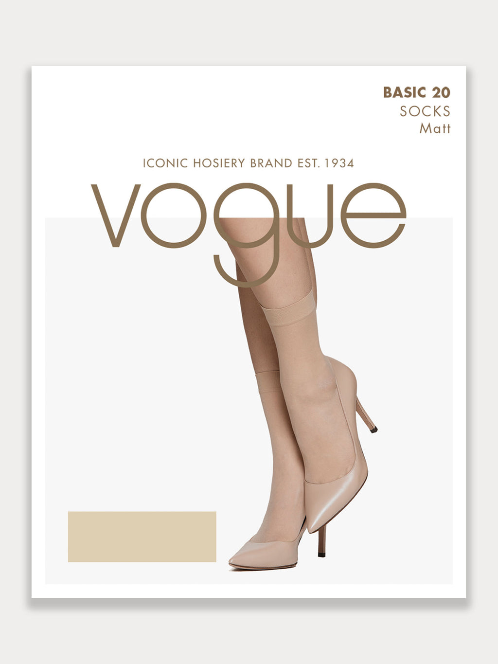 Vogue Basic Sock 20 Denier, 2-pack