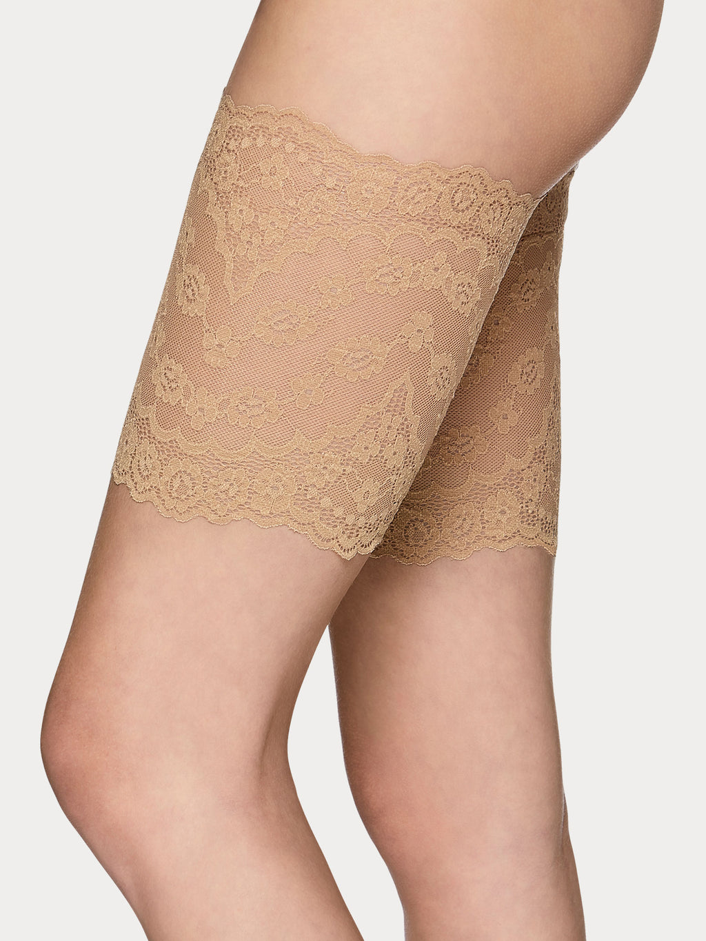 Vogue Hosiery anti-Chafing thigh bands.
