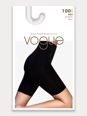 Vogue Hosiery seamless bike shorts in smooth microfiber.