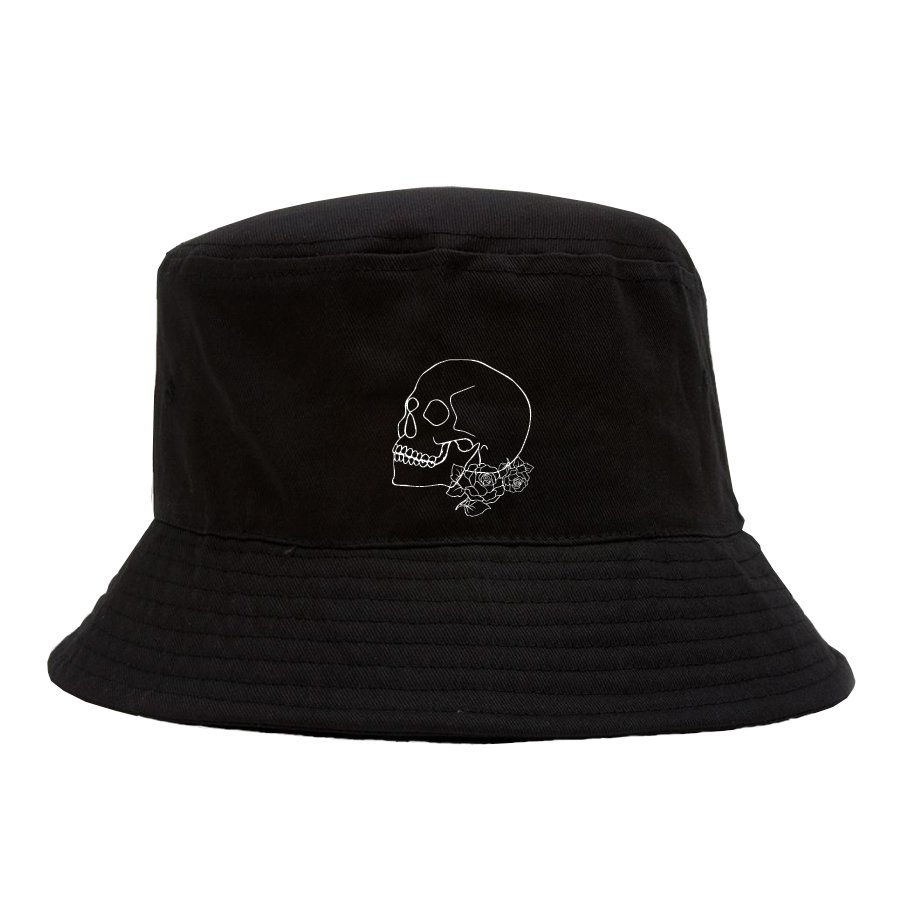 Skull and Roses Bucket Hat