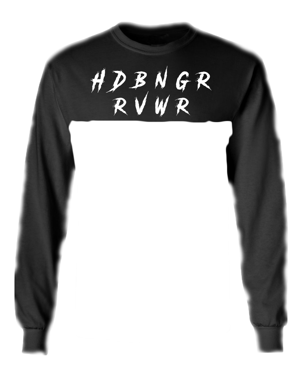 HDBNGR RVWR Long Sleeve Cropped Cut Off Tee