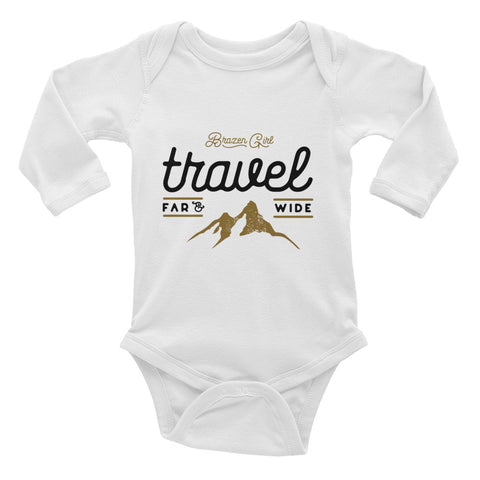 Baby Travel Far & Wide Long Sleeve Bodysuit