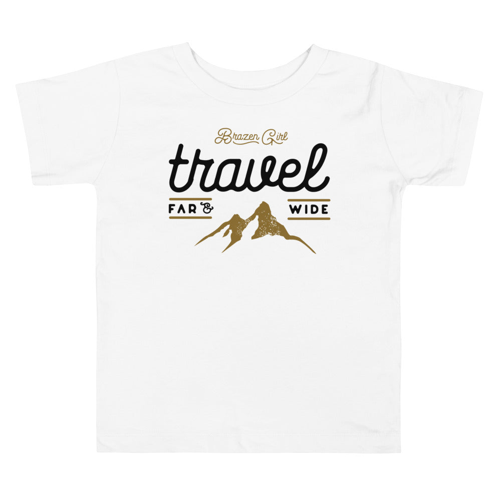 Toddler Travel Far & Wide Short Sleeve Tee