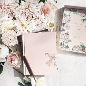 TypoFlora 2021 Always Flower Planner - Blush - Market Blooms