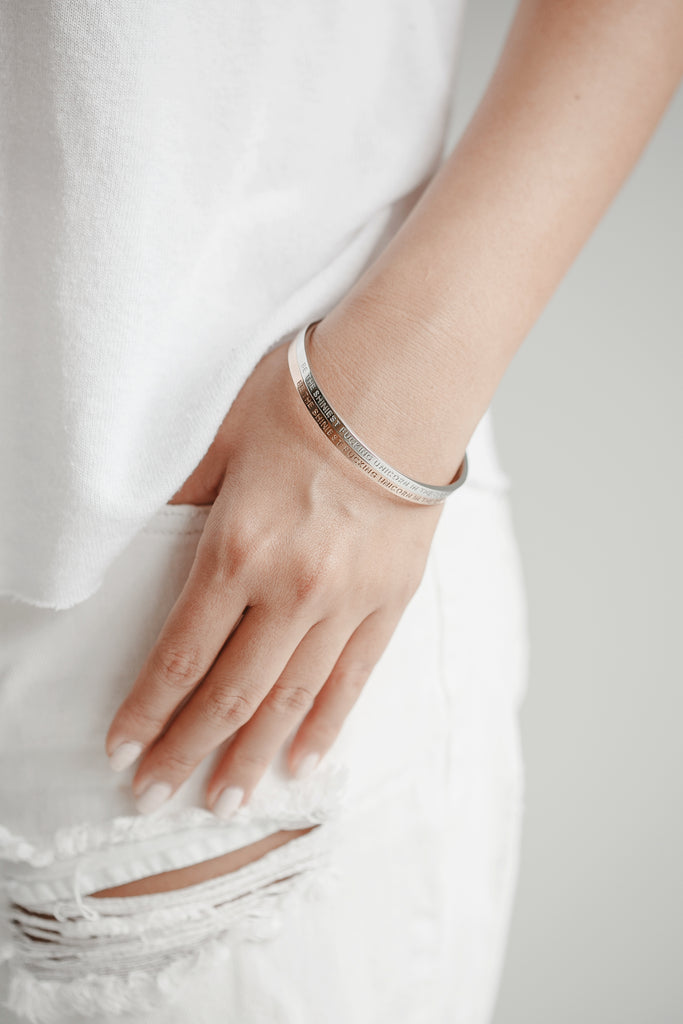 BE THE SHINIEST FUCKING UNICORN IN THE ROOM - Silver Clasp Bangle