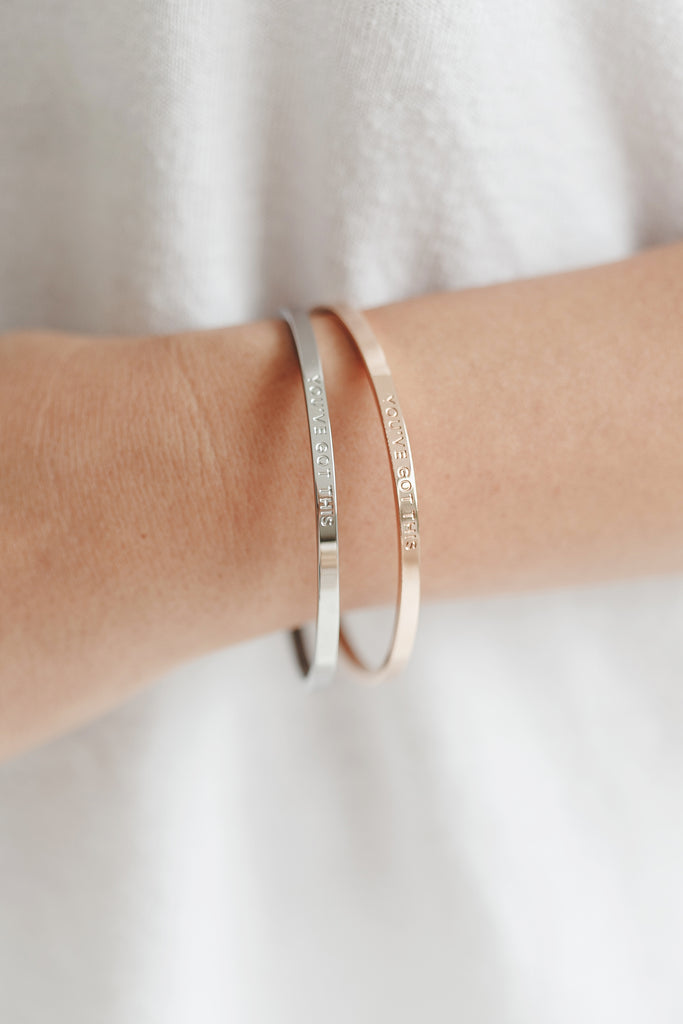 YOU'VE GOT THIS - Silver Clasp Bangle