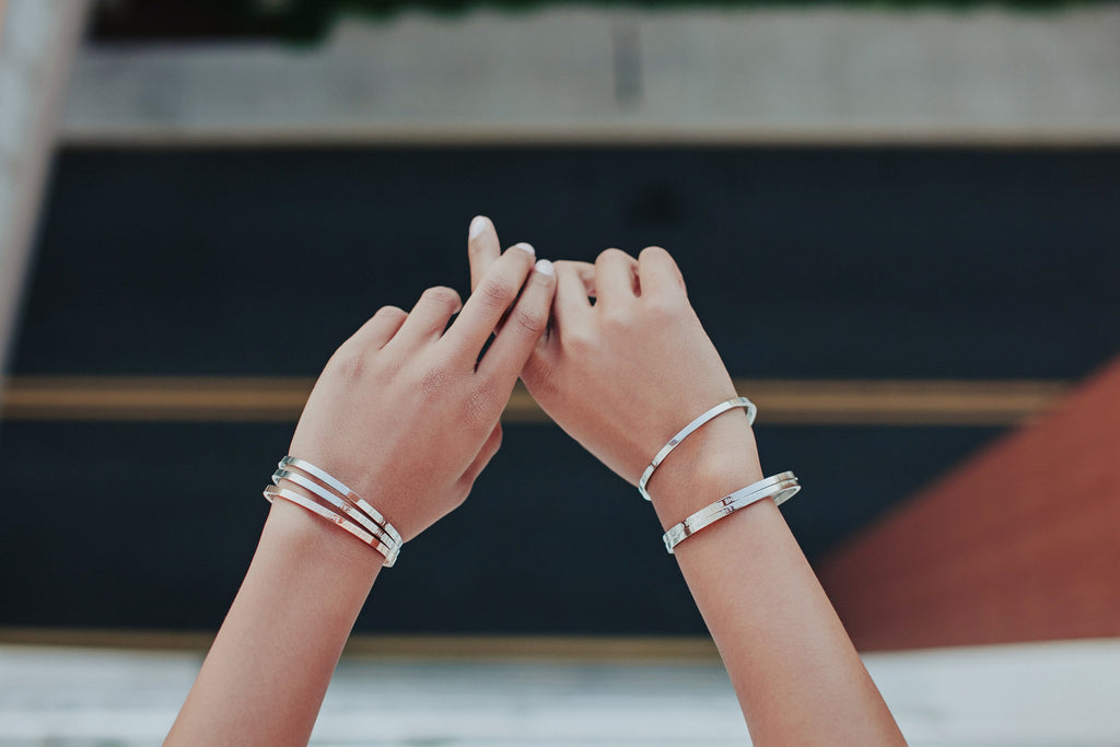 KINDNESS IS MY GO-TO, BUT FUCK OFF IS MY WINGMAN - Silver Clasp Bangle