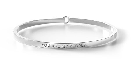 YOU ARE MY PEOPLE - Silver Clasp Bangle