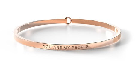 YOU ARE MY PEOPLE - Rose Gold Clasp Bangle