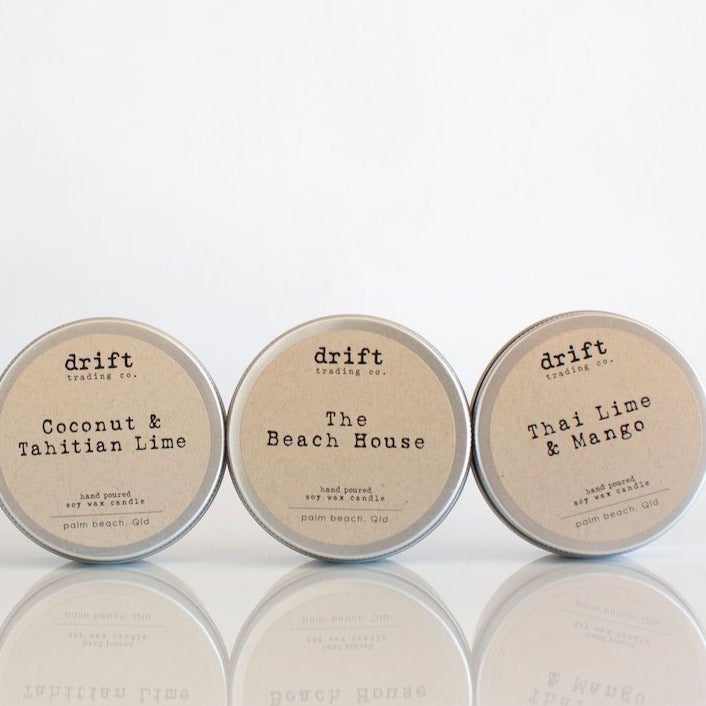 Drift Trading Co. Travel Tin Soy Wax Candle 16hrs