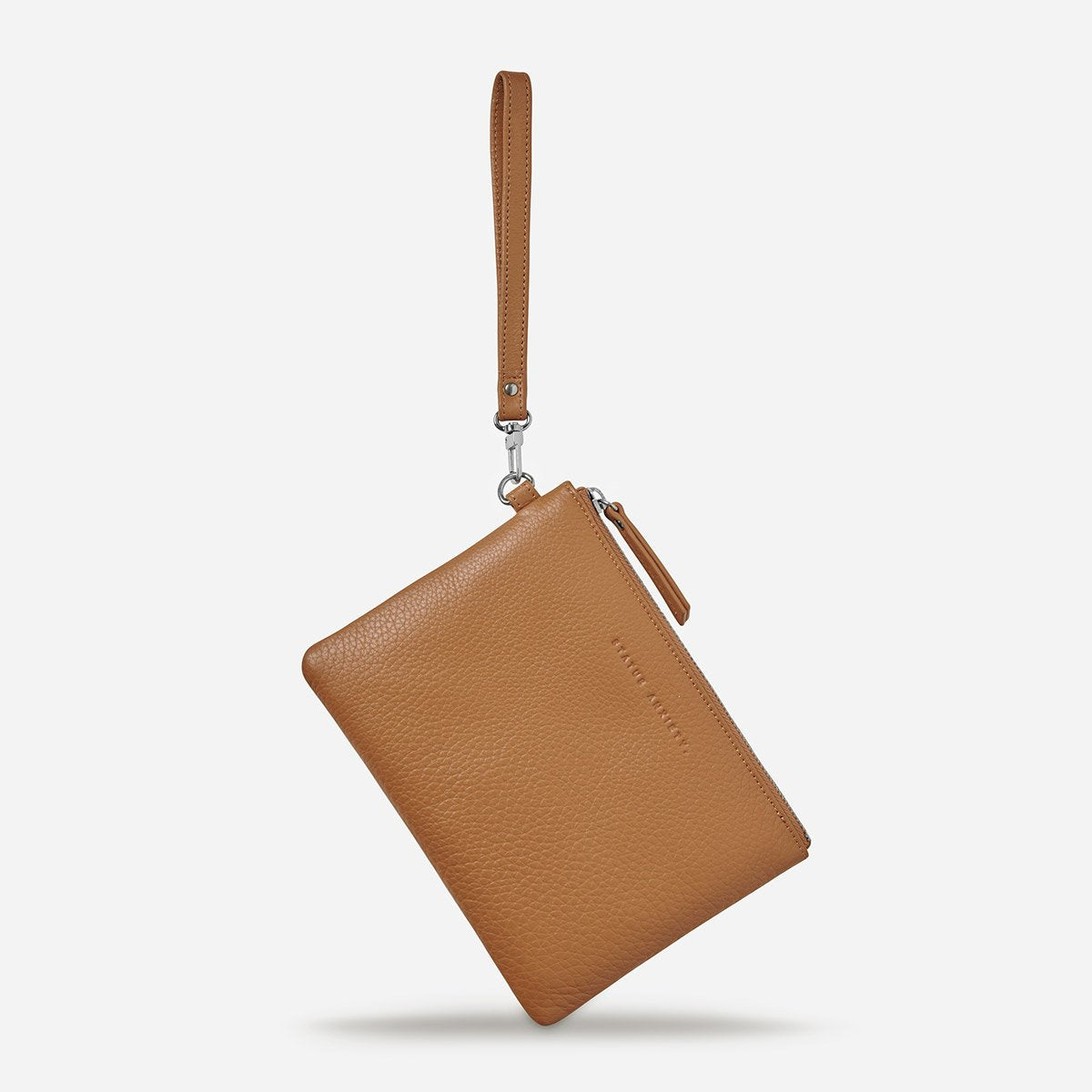 Status Anxiety Fixation Pouch in Tan Emboss