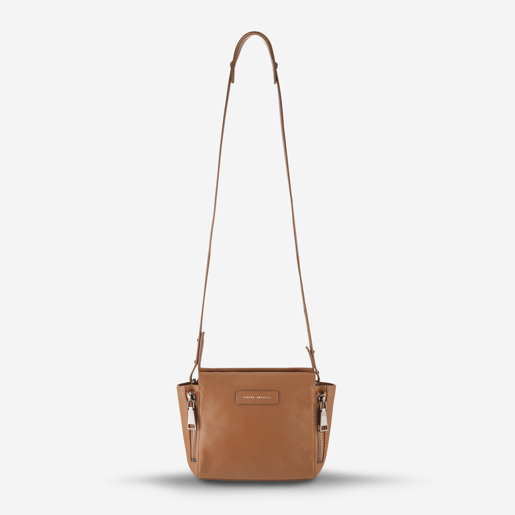 The Ascendants Cross Over Bag in Tan Pebble