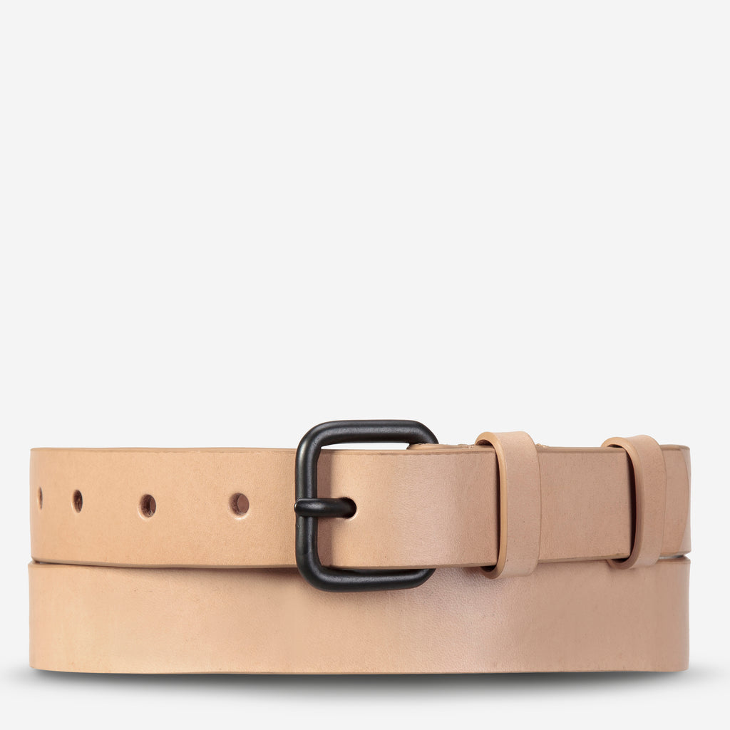 Revelery Cowhide Leather Belt in Tan