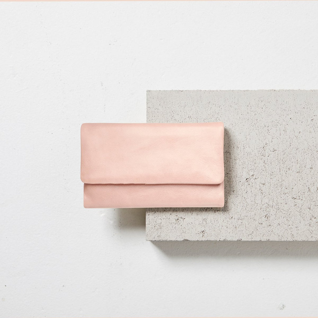 Audrey Wallet in Dusty Pink