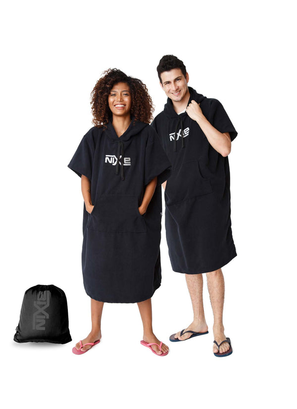 Nixie All Black Poncho-Towel