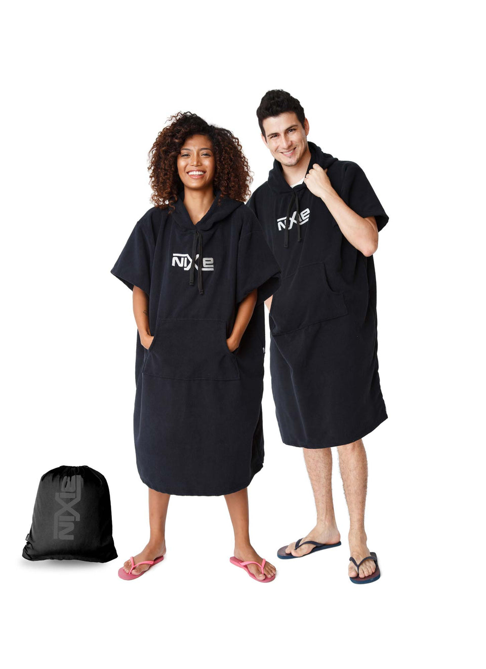 All Black Poncho-Towel