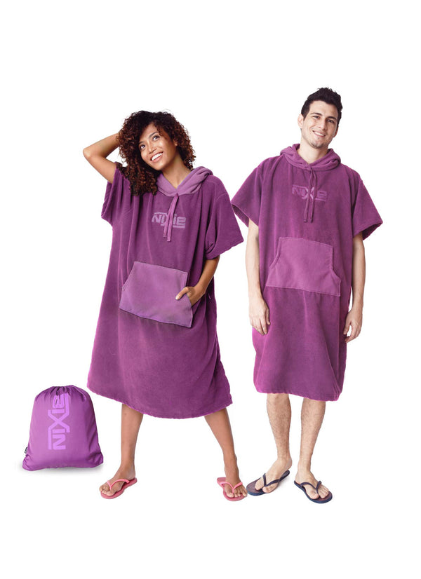 Nixie Purple Poncho-Towel